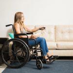 Girl Wheelchair Living Room